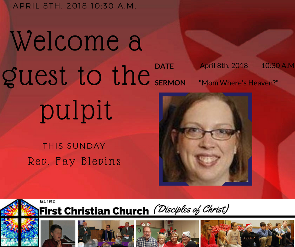 Rev. Fay Blevins Preaching April 8th | First Christian ...